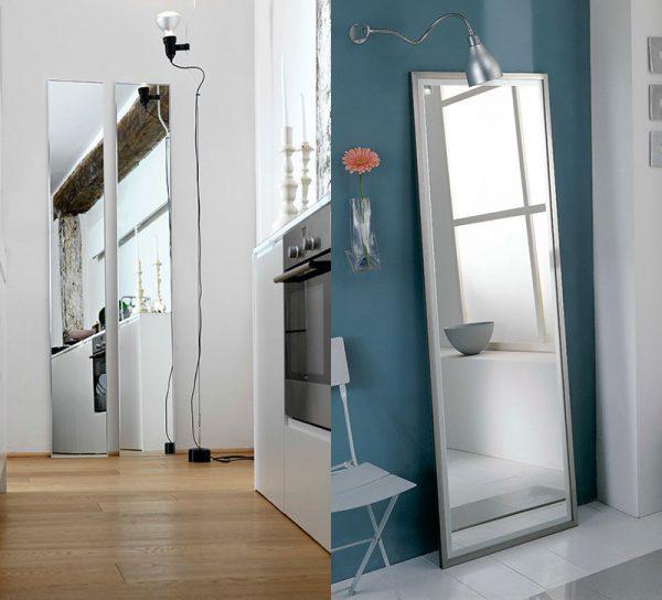 flur-spiegel-glas-wand-dekoration-ganzkoerperspiegel