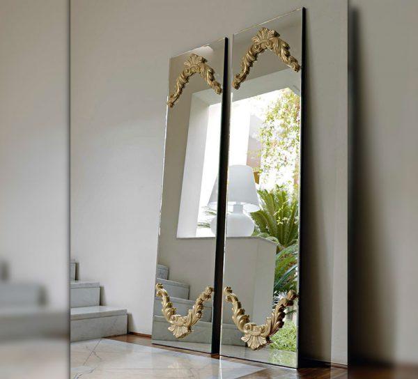 flur-spiegel-glas-wand-dekoration-ganzkoerperspiegel-vintage-gold