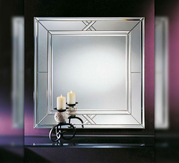 flur-spiegel-glas-wand-dekoration-quadrat-verzierung