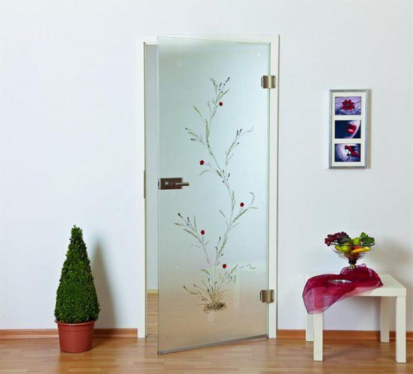 glastuer-milchglas-pflanze