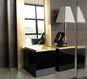 kommode-glas-schrank-schwarz-gold-moebel-regal-modern