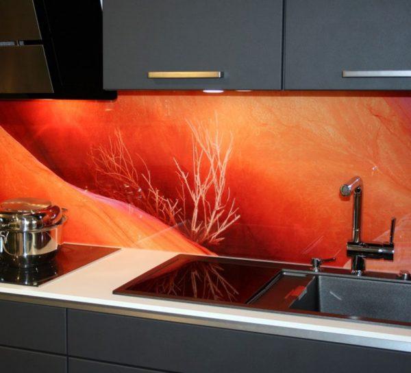 lackiert-glas-spritzschutz-kueche-klar-bild-orange