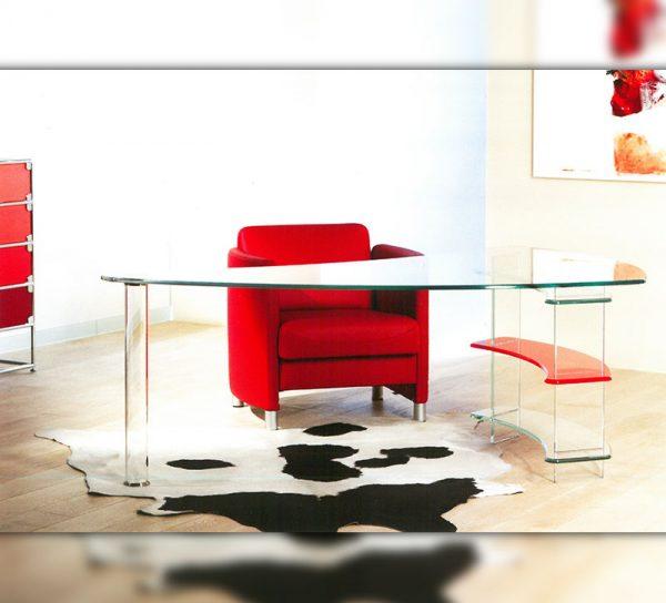 schreibtisch-glas-rot-regal-modern