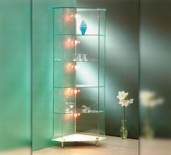 vitrine-glas-klar-standregal-licht-led
