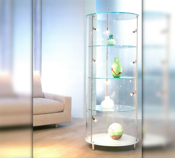 vitrine-glas-klar-standregal-licht-led-tuer-rund